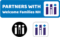 Welcome Families NH social badge options
